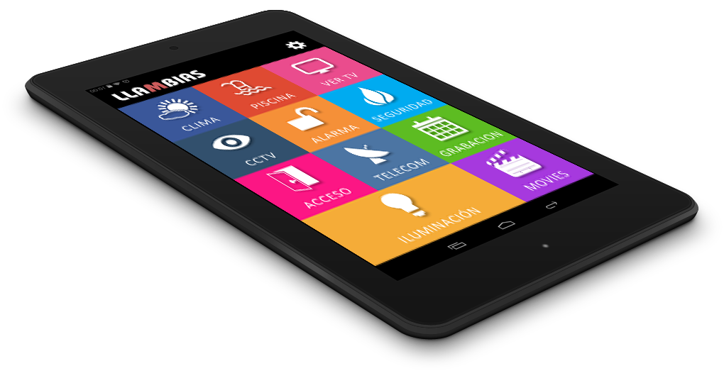 KNX control tablet - smartphone