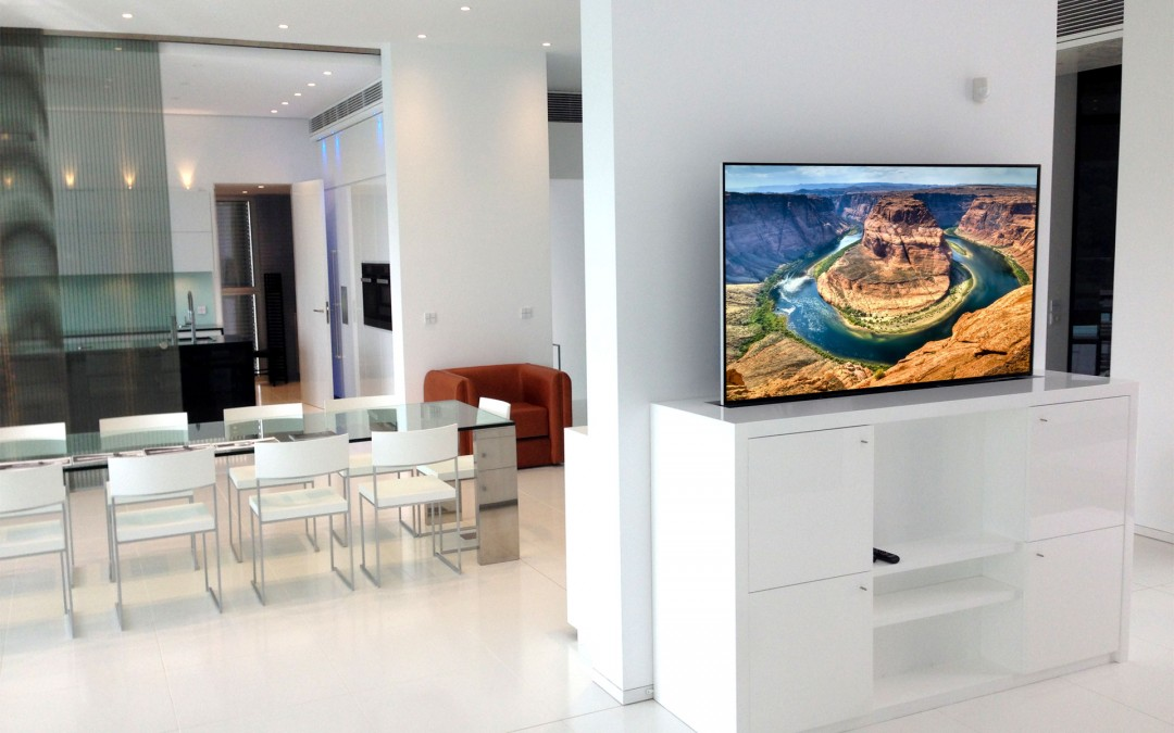 Amazing TV integration with Lift and furniture in Mallorca