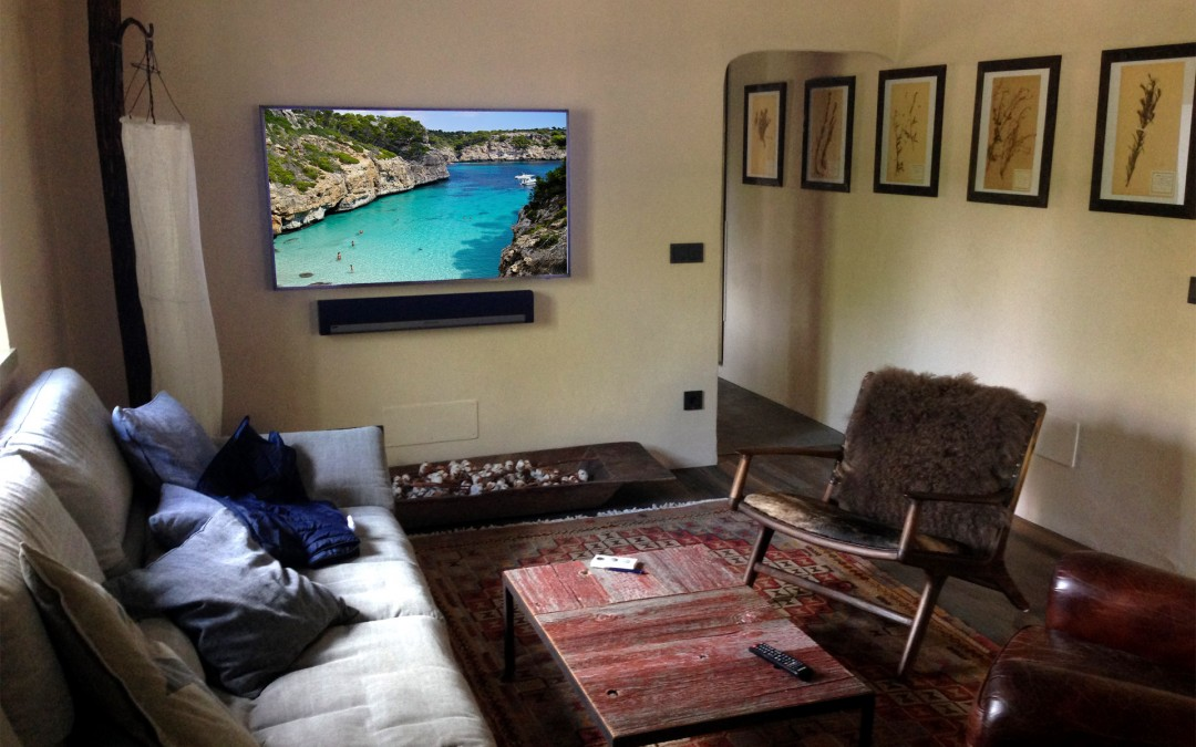 Multiroom sound system by Sonos and Samsung TV solution in Mallorca